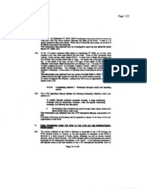 Forfeiture Order: World Tamil Movement Quebec pt  3/3