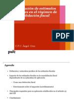 Aplicación de estímulos  fiscales en el régimen de  consolidación fiscal