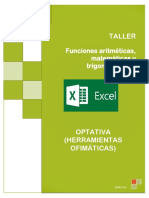 TALLER EXCEL 1 Funciones Matematicas