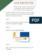 Inserción de archivos de sonido y video en Powerpoint