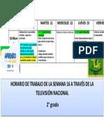 HORARIO SEGUNDO DE PRIMARIA