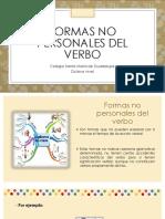 Formas no personales de verbo 8°