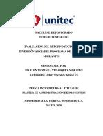 Evaluación del Retorno Social de la Inversión del Programa de Apoyo a Migrantes