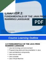 CHAPTER 2 -FUNDAMENTAL OF JAVA PROGRAMMING LANGUAGE_JUN2020