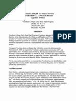 Departmental Appeals Board DAB2351; Voorhees College Early Head Start Program (12.20.2010).