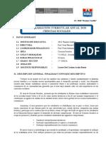 PCA PRIMER AÑO - CS. SOCIALES