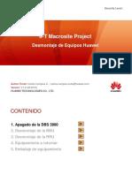 Desmontaje de Equipos Huawei - IPT Macrosite Project
