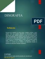 DISGRAFIA exposicion