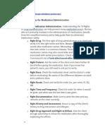 Nursing Responsibilities for Medication Administration
