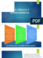 ÉTICA PÚBLICA Y TRANSPARENCIA - PPT