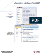 Embedding a YouTube Video Into PowerPoint (PowerPoint 2007)