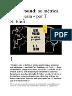 Ezra Pound. Su métrica y su poesía. Eliot