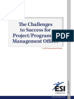 The Challenges to Success for Project Management Offices
