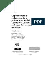 CEPAL - Capital Social y Reducción Del a Pobreza en LATAM en Busca de Un Nuevo Paradigma