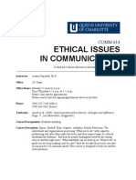 COMM 614 Ethical Issues in Communications