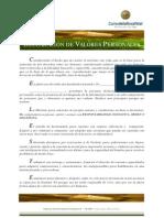 Carlos de la Rosa Vidal - Declaración de Valores Personales e Inteligencia Ética