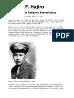 Barney F. Hajiro, CMH, 1916-2011
