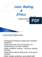 Decision Making and Ethics Presentation