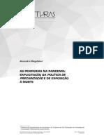 Magalhães, A. As periferias na pandemia - explicitação da política de precarização e de exposição à morte
