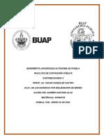 U5-A1, De los ingresos por enajenación de bienes, Gloria del Carmen Guevara Alva