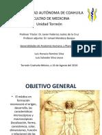 Anatomia, planimetría (Generalidades)