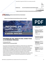 Informe IPE VIII_ Impacto del COVID-19 en la economía peruana _ IPE