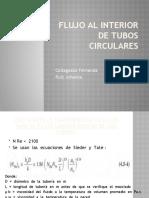 Flujo al interior de tubos circulares y no circulares- Collaguazo, Ruiz