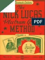 Nick Lucas Plectrum Guitar Method Volume 1
