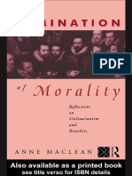 Anne Maclean - The elimination of morality_ reflections on utilitarianism and bioethics-Routledge (1993)