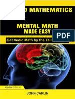 APPLIED MATHEMATICS_ MENTAL MATH MADE EASY (Fast, Quid) (Get Vedic Math by the Tail! Book 4) - John Carlin