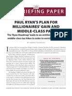 EPI - Paul Ryan's Plan for Millionaires Gain, Middle Class Pain
