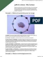 5 exemples de grille de cristaux - Miss Larimar