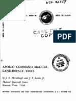 Apollo Command Module Land-Impact Tests