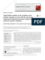 approximate-solution-of-the-nonlinear-heat-transfer-equation-of-a-fin-with-the-power-law-temperature-dependent-thermal-conductivity-and-heat-transfer-coefficient
