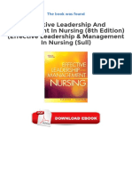 Free eBooks Effective Leadership And Management In Nursing 8th Edition Effective Leadership Management In Nursing Sull Available To Downloads