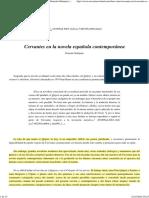 (1) Cervantes en la novela española contemporánea (G. Sobejano. 1987)