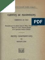 Cuentos de adivinanzas-Rodolfo Lenz