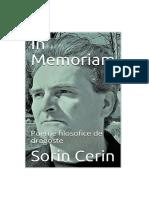 In Memoriam - Poezii filozofice de dragoste de Sorin Cerin