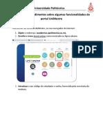Manual de Procedimentos Sobre Algumas funcionalidades do portal UniMestre