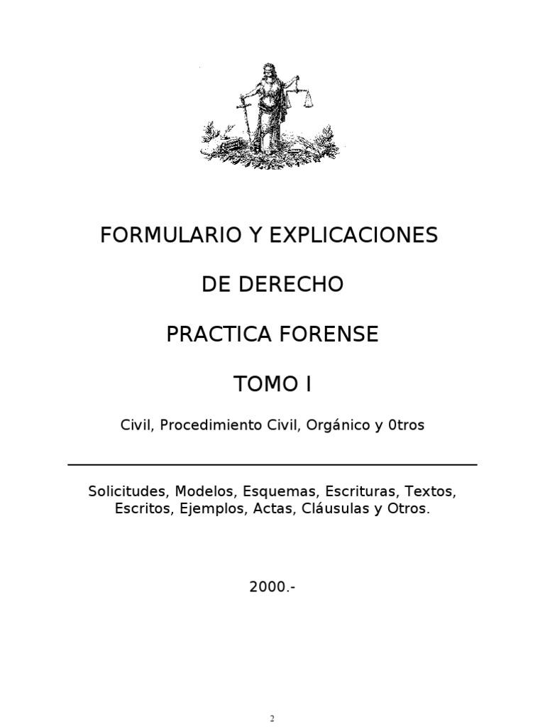 Formularios y Explicaciones de Derecho