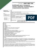 NBR 7500 - Placas de Sinalização