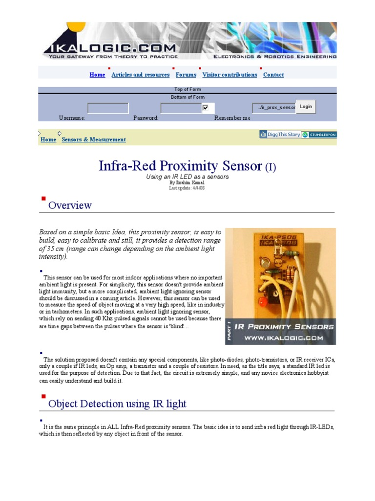 PROXIMITY SENSOR TUTORIAL | Operational Amplifier | Light