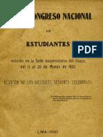 1920 I Congreso FEP