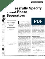 3 Phase Separators