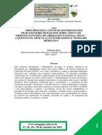 E3T10- PRINCIPIOS EDUCATIVOS DO MOVIMENTO DOS TRABALHADORES RURAIS SEM TERRA