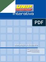 Sociologia e Educação (40hs) Unidade I