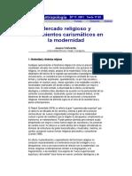 Mercado religioso y movimientos carismáticos en la modernidad