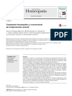 Tratamiento homeopático y convencional en la hipertensión