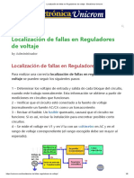 Localización de fallas en Reguladores de voltaje - Electrónica Unicrom.pdf