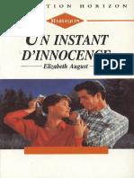 Un instant d'innocence - Elizabeth August
